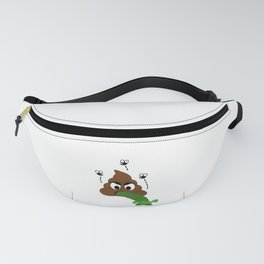 A stinky poop puking Fanny Pack