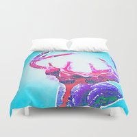 antlers Duvet Covers featuring Antlers by Lim Sahar