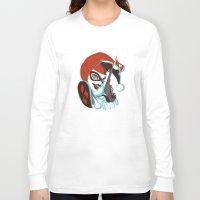 harley quinn Long Sleeve T-shirts featuring Harley Quinn by Piano Bandit