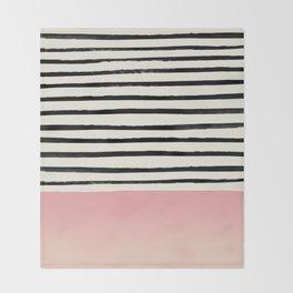 Blush x Stripes Throw Blanket