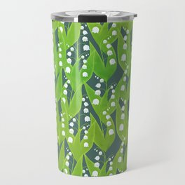 Lily of the Valley Pattern Travel Mug