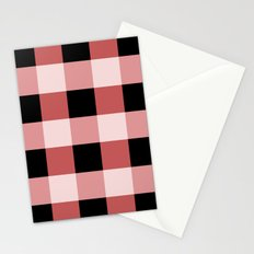 Pink squares Stationery Cards