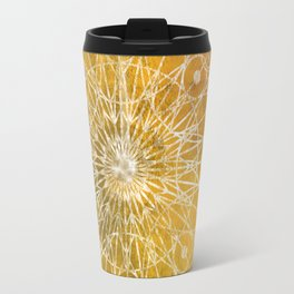 Rosette Window - Yellow Travel Mug