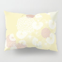 Floral Seamless Pattern on Yellow Pillow Sham