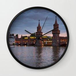 Oberbaumbrücke Wall Clock
