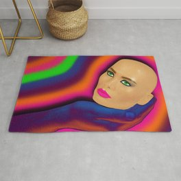 Head in Hand Rug