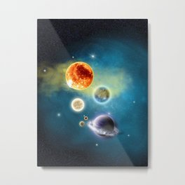 New Solar System Metal Print