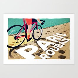 Paris Roubaix Art Print