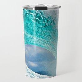 Wave Series Photograph No. 28 - Ocean Blue Travel Mug