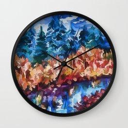 Fall in Rockies Wall Clock