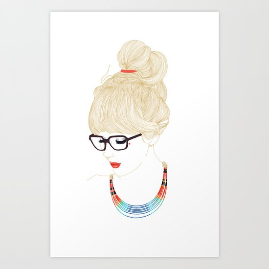 Fashion Glasses Art Print