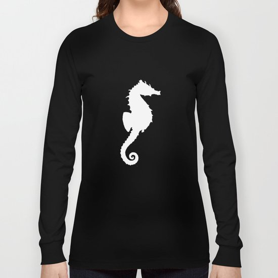 Seahorse black Long Sleeve T-shirt