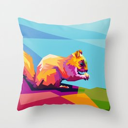 Squirrel Colorfull Throw Pillow