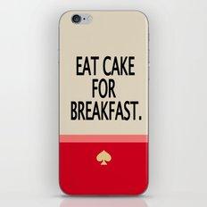 Kate Spade Inspired Eat Cake For Breakfast iPhone & iPod Skin