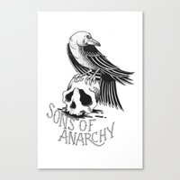 sons of anarchy Canvas Prints featuring Sons of Anarchy  by Christiano Mere