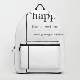 Happiness 294 Watercolor Map Yoga Quote Definition Backpack