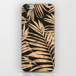 black and gold palms iPhone Skin