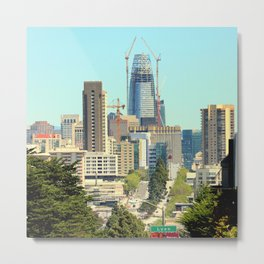 The Salesforce Tower Pre - View Metal Print