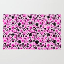 Hot Pink Steampunk Rug