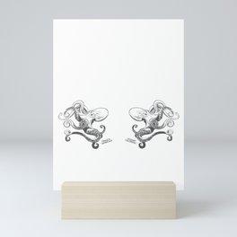 Octopus - Inktober 2016 #20 Mini Art Print