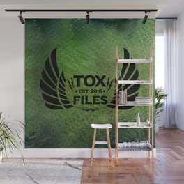 Tox Files - Black on Green Wall Mural
