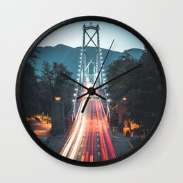 lions gate bridge Wall Clock