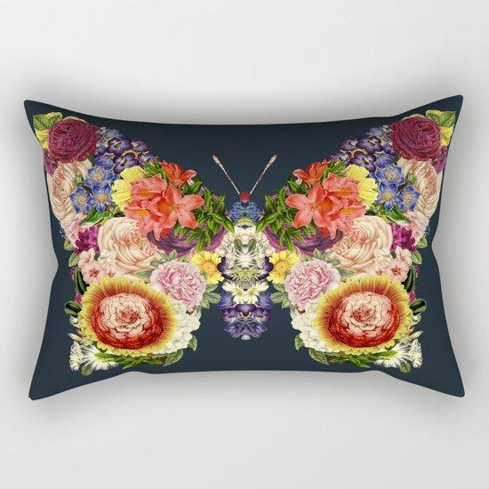 Spring Butterfly Floral Rectangular Pillow