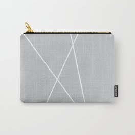 gray geometric Carry-All Pouch