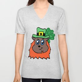 Squirrel Leprechaun  Unisex V-Neck