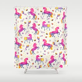 Unicorn Jubilee Shower Curtain