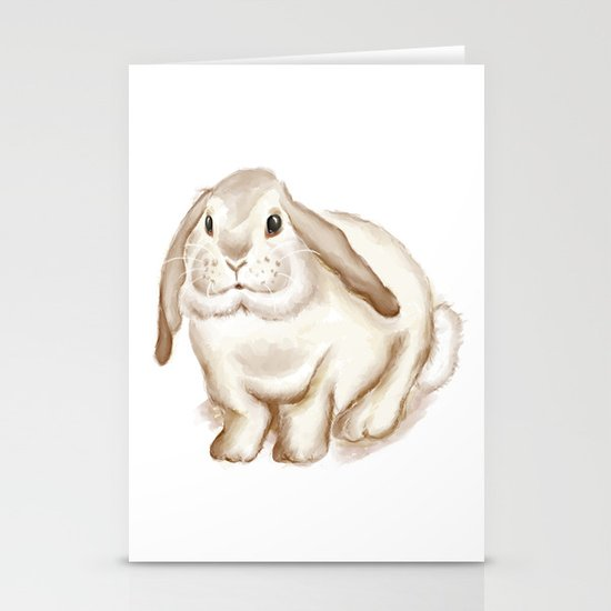 Watercolor Bunny Stationery Cards
