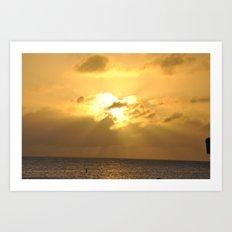 Cayman Sunset Art Print