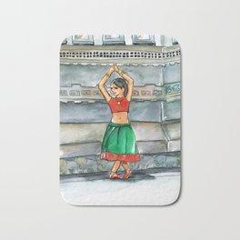 Shanti Girl Watercolor Bath Mat