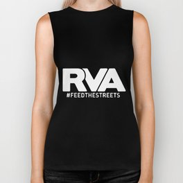 rva hastag feedthestreets black and white shirt car veteran Biker Tank