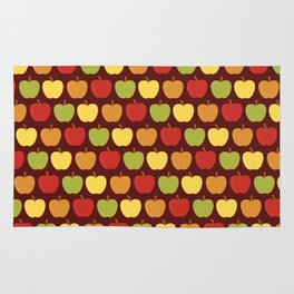 Apples Over Burgundy Rug