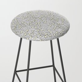 Enokitake Mushrooms (pattern) Bar Stool