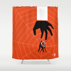 Orange Dr No Shower Curtain
