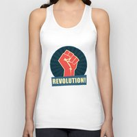 revolution Tank Tops featuring REVOLUTION! by Word Quirk