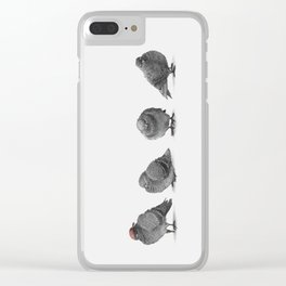 Four Pigeons Clear iPhone Case