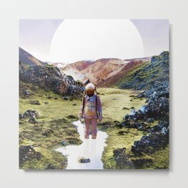 Lonely Astronaut in the Mountains Metal Print