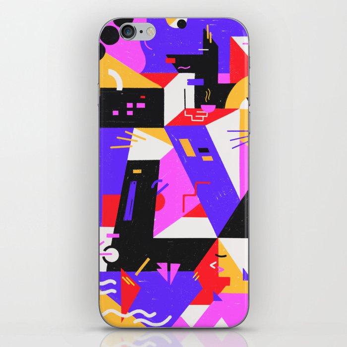 Multi-dimensional city iPhone Skin