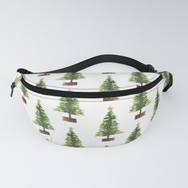 Watercolor Christmas Tree Fanny Pack