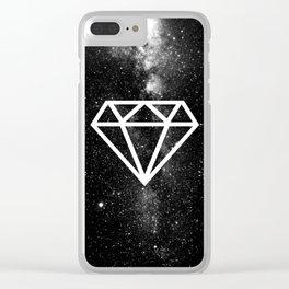 BLACK--DIAMOND Clear iPhone Case