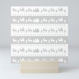 Christmas Parade - (Silver) Mini Art Print