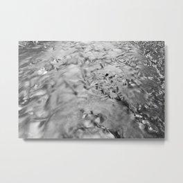 Silver Run Metal Print