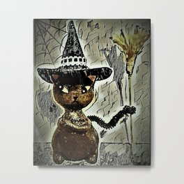 Sassy Witch Cat Metal Print