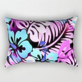 Hawaiian Flowered Shirt Print Pink Blue Rectangular Pillow