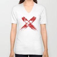 cross V-neck T-shirts featuring Cross by Murat Özkan