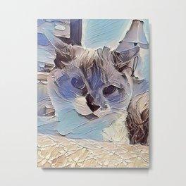 Glacier Cat. (Sugar Puss) Metal Print