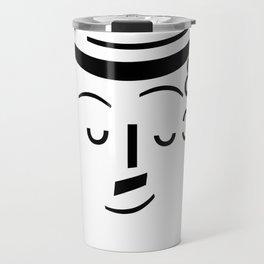 Chaplin ascii emoticon  Travel Mug